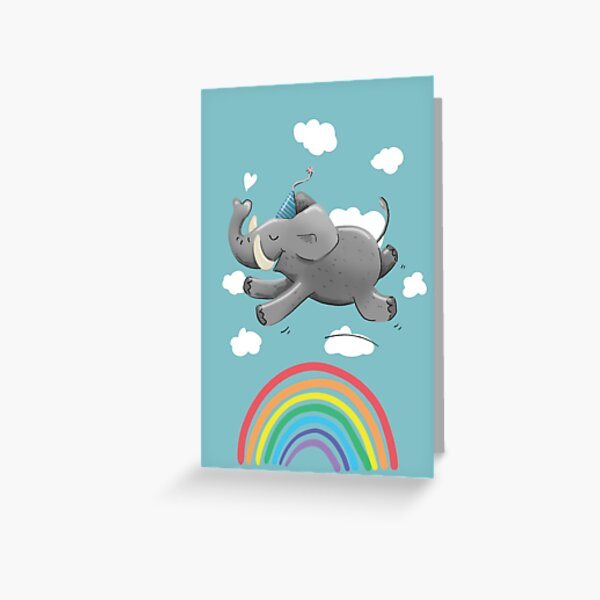 Elephant in the clouds Greeting Card
