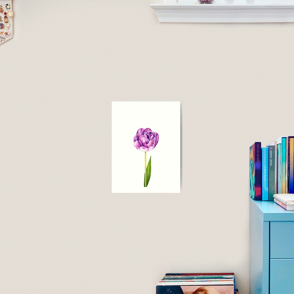 Purple Double Tulip Art Print
