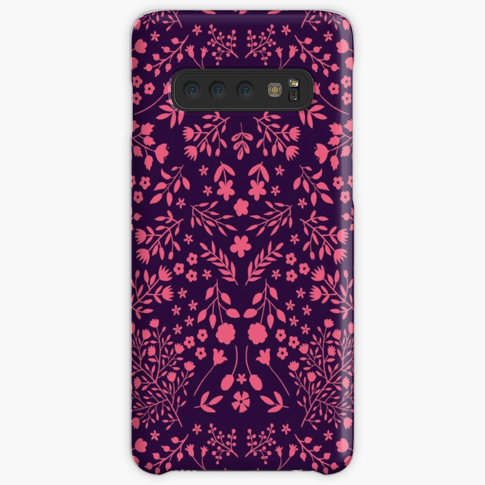 Watercolor Flowers in Pink and Purple Case & Skin for Samsung Galaxy