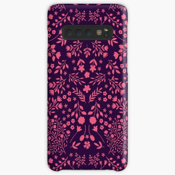 Watercolor Flowers in Pink and Purple Samsung Galaxy Snap Case