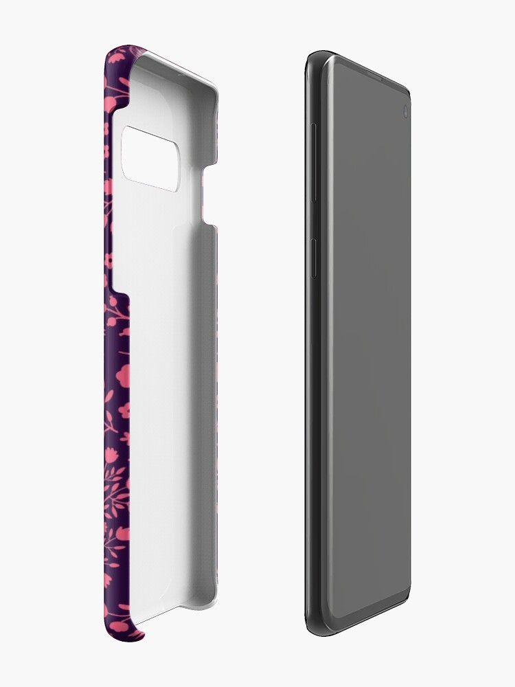 Alternate view of Watercolor Flowers in Pink and Purple Case & Skin for Samsung Galaxy