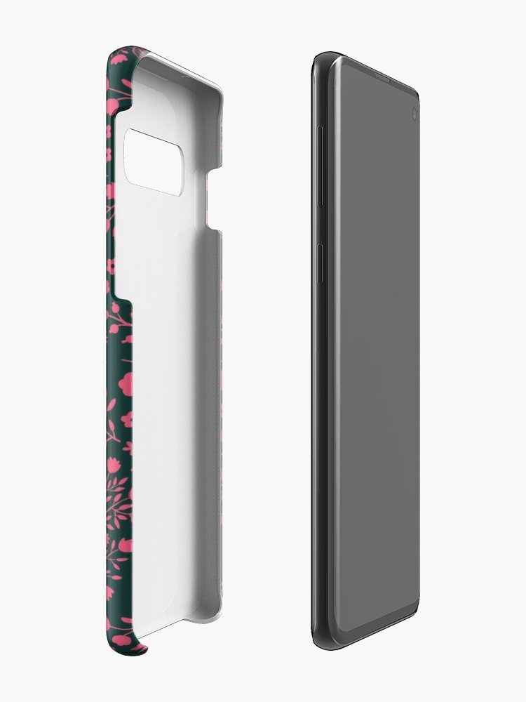 Alternate view of Watercolor Flowers in Pink and Teal Case & Skin for Samsung Galaxy