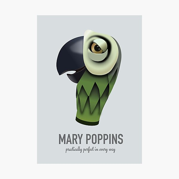 Mary Poppins - Alternative Movie Poster Photographic Print
