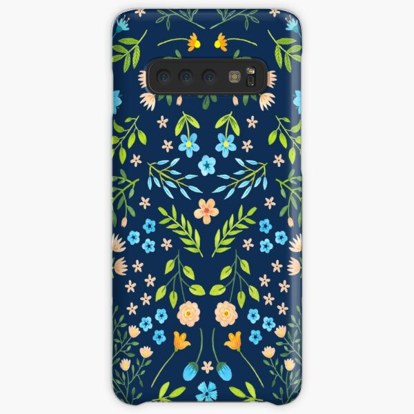 Watercolor flowers in Blue Samsung Galaxy Snap Case