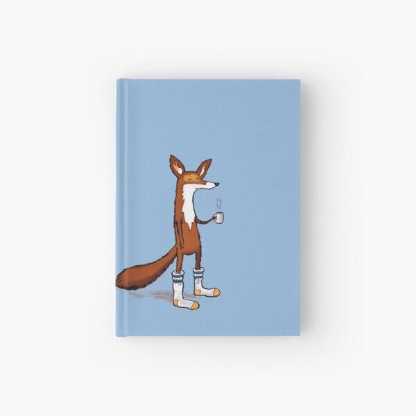 Fox in Tube Socks - drinking coffee Hardcover Journal