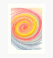 Swirling Rainbow Lollipop Art Print