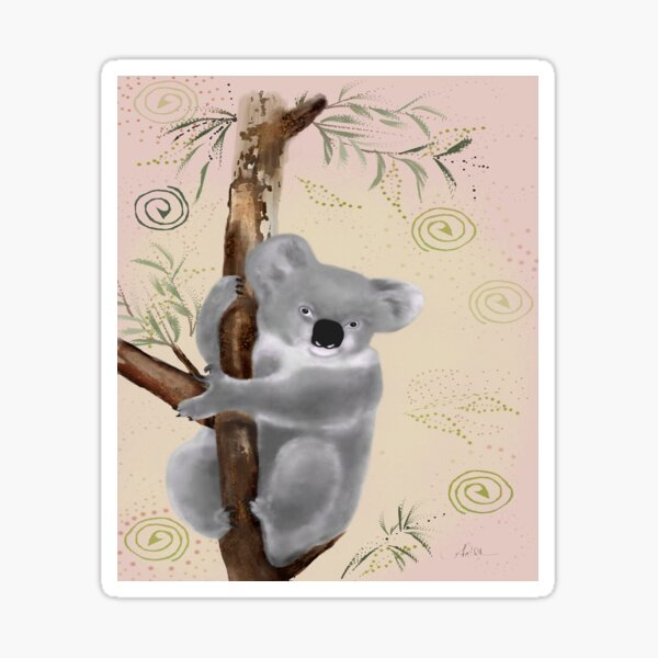 Koala Dots Animal Portrait Sticker