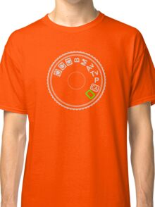 Camera Mode Dial Silver Green Classic T-Shirt