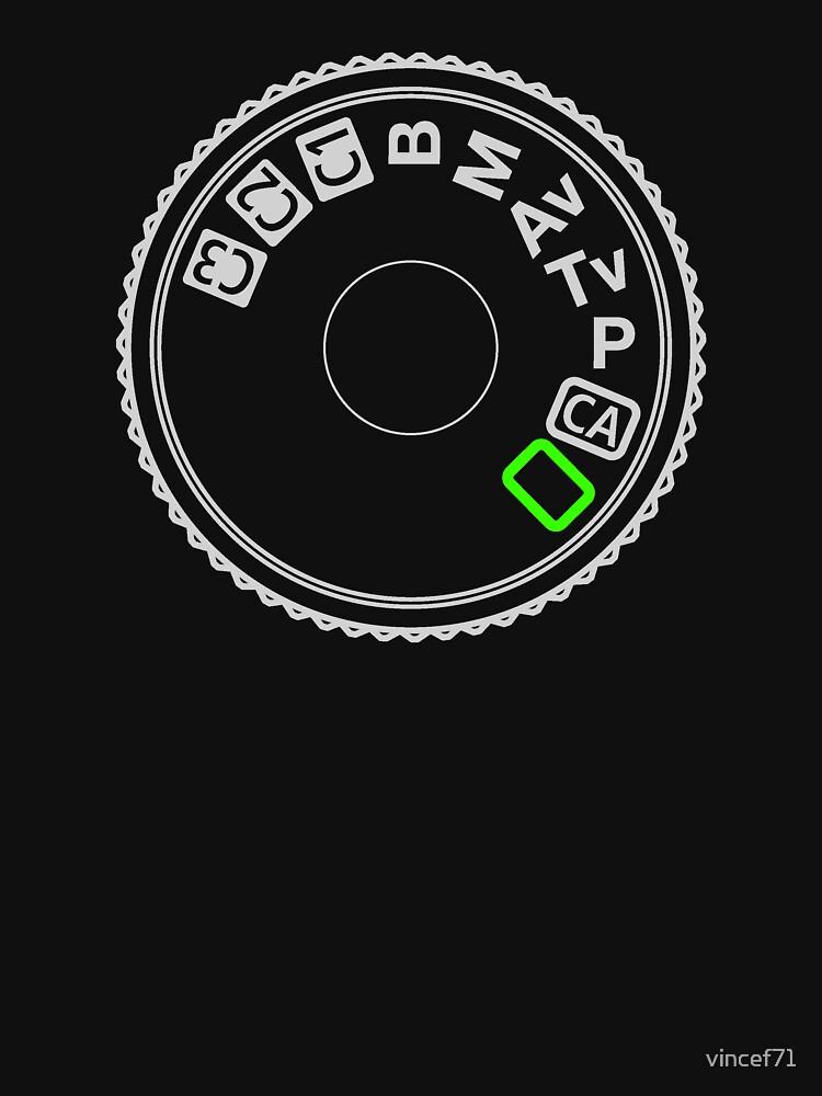 Camera Mode Dial Silver Green | Unisex T-Shirt