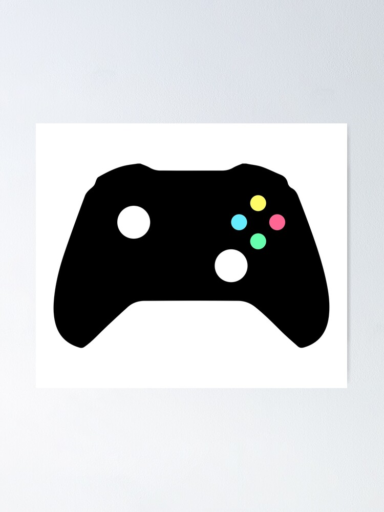 Video Game Controller Silhouette Poster By Corrochdesigns Redbubble