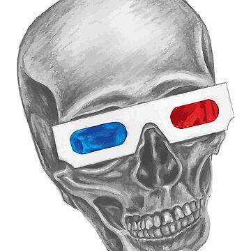 3D bespectacled Skull by HekimoArt