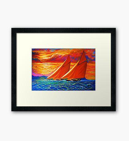 Golden Sails Framed Print