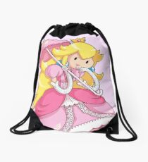 Adventure Peach Drawstring Bag