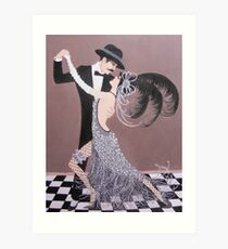 ART DECO DANCERS Art Print