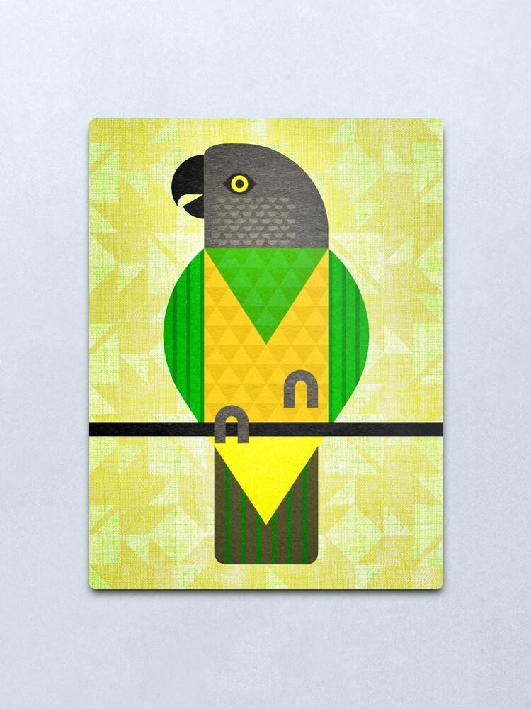 Alternate view of Senegal Parrot Metal Print