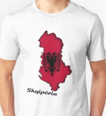 Zammuel's Country Series - Albanian (Albanian text) Slim Fit T-Shirt