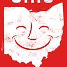 Ohio Makes Me Smile! Cool Vintage Retro Tee by Will Ruocco