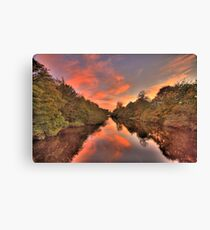 Candyfloss sunset ! Canvas Print