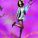 Fun Girl Pink by JuliaKHarwood