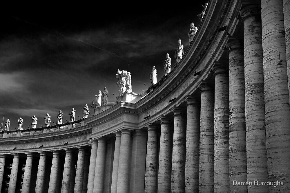 Saints Over Saint Peters Square Rome by Darren Burroughs