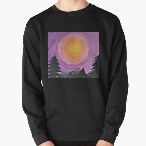 Sunset in the mountains Pullover Sweatshirt