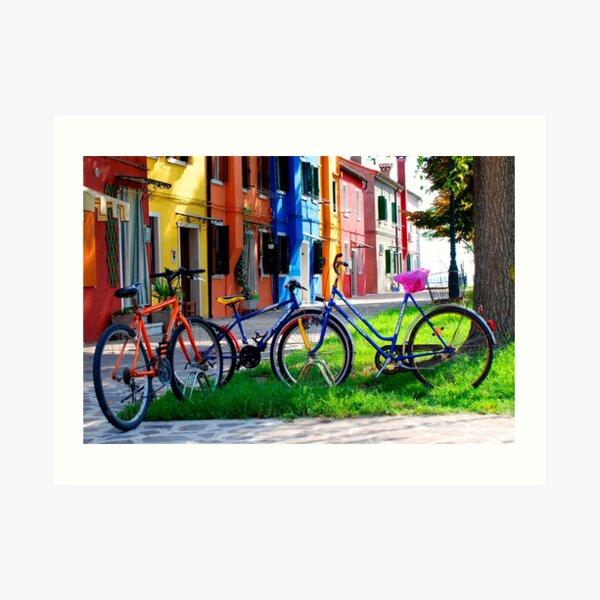 Burano Bicycle Art Print