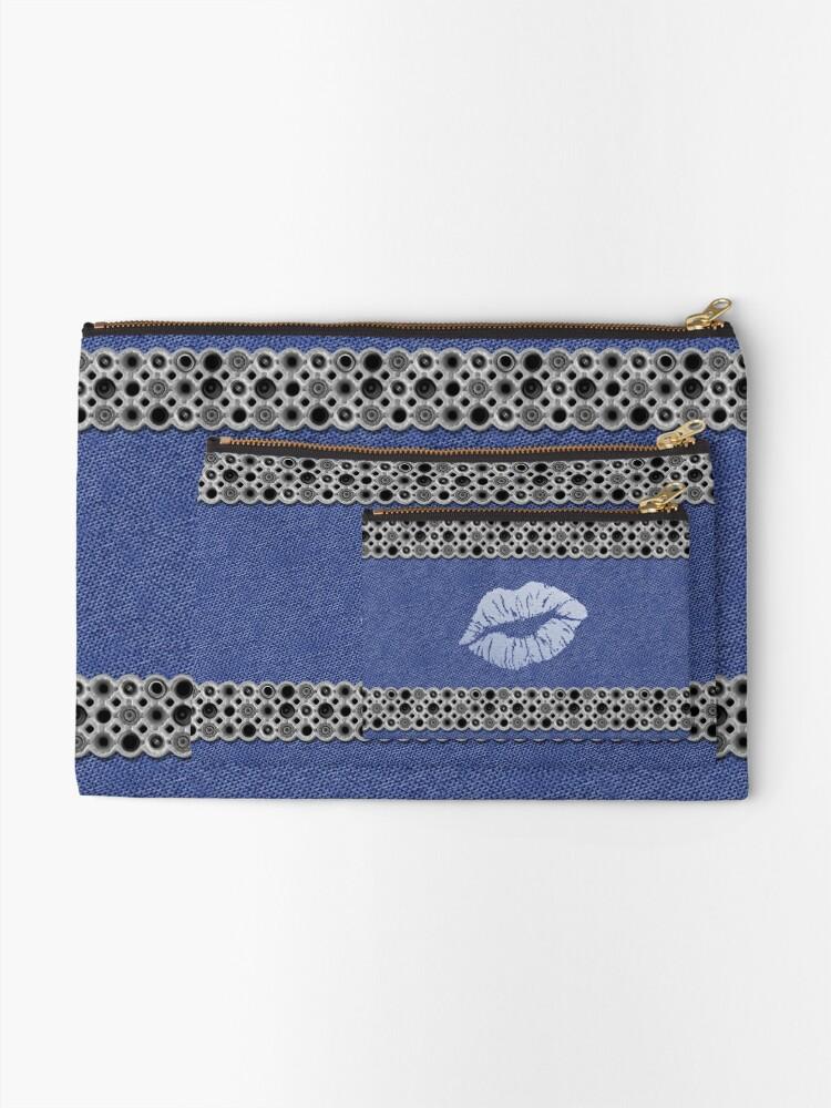 Pochette ''Jeans, metal and blue lips': autre vue