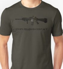 Stops Jihad on Contact - M4 Unisex T-Shirt