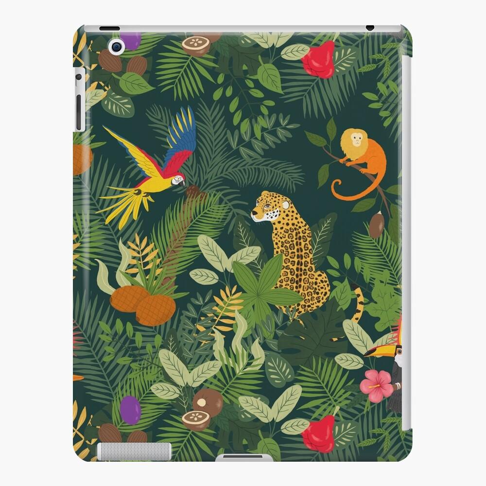 Amazon Jungle on Green iPad Case & Skin