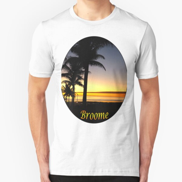 Tropical Sunset, Broome Slim Fit T-Shirt