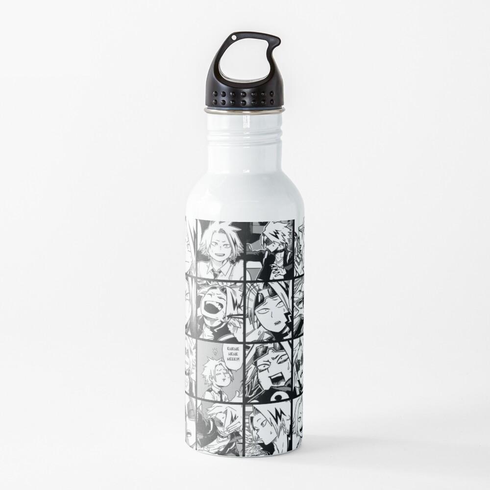 kaminari denki- manga black and white version Water Bottle