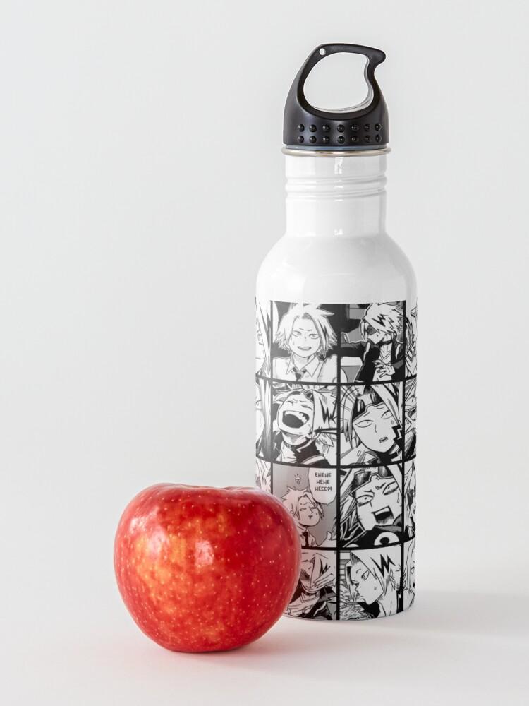 Alternate view of kaminari denki- manga black and white version Water Bottle