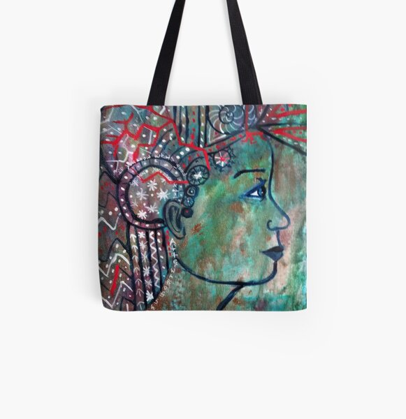 She lived in her head All Over Print Tote Bag