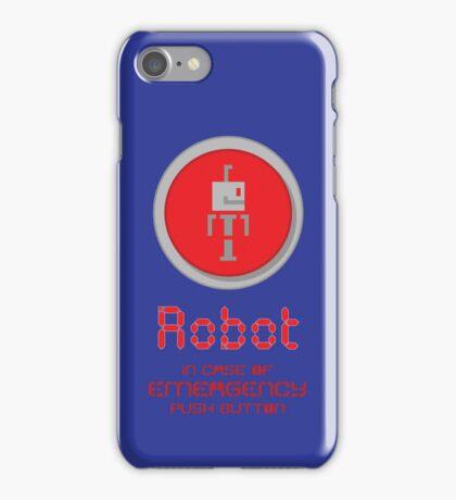Robot Button iPhone Case/Skin