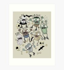 Monster Mash!!! Art Print