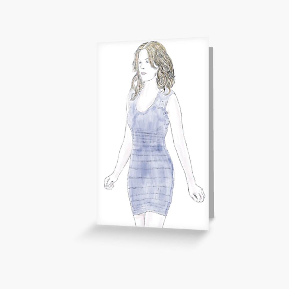 Elizabeth Banks Illustration Greeting Card