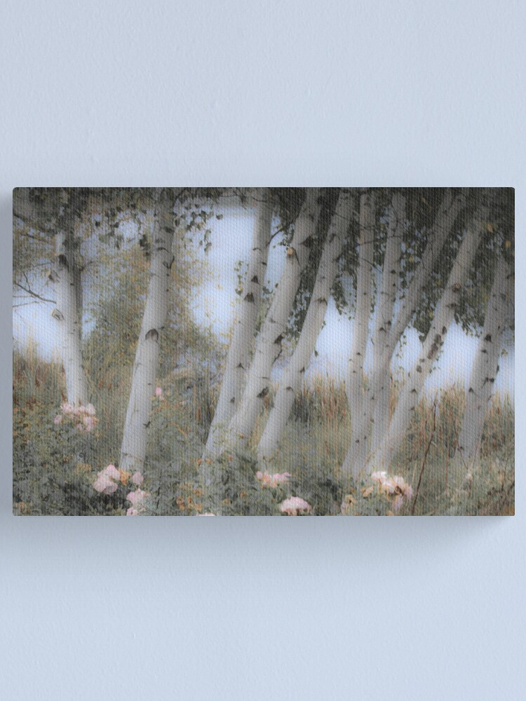 Alternate view of Rose and Birch Canvas Print