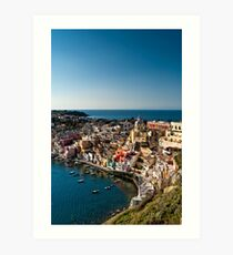 Corricella from above Art Print