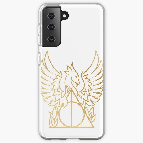 Gold Phoenix Hallows Samsung Galaxy Soft Case
