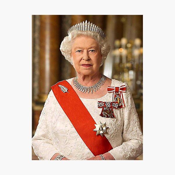 Queen Elizabeth Portrait Photographic Print