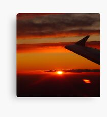 Sunset from the plane Canvas Print