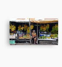 Fruit stall, Tagaytay, Philippines Canvas Print