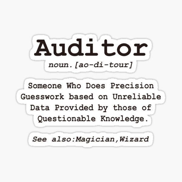 Finance, Auditor, Audit, Economists fans, Stickers and gift ideas Sticker