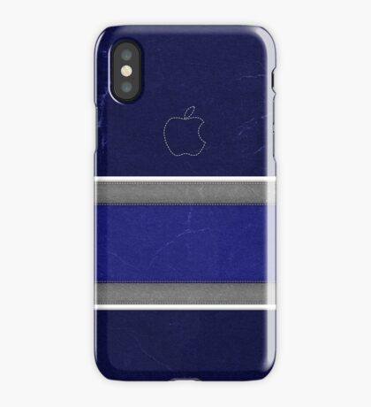 Blue Leather iPhone Case