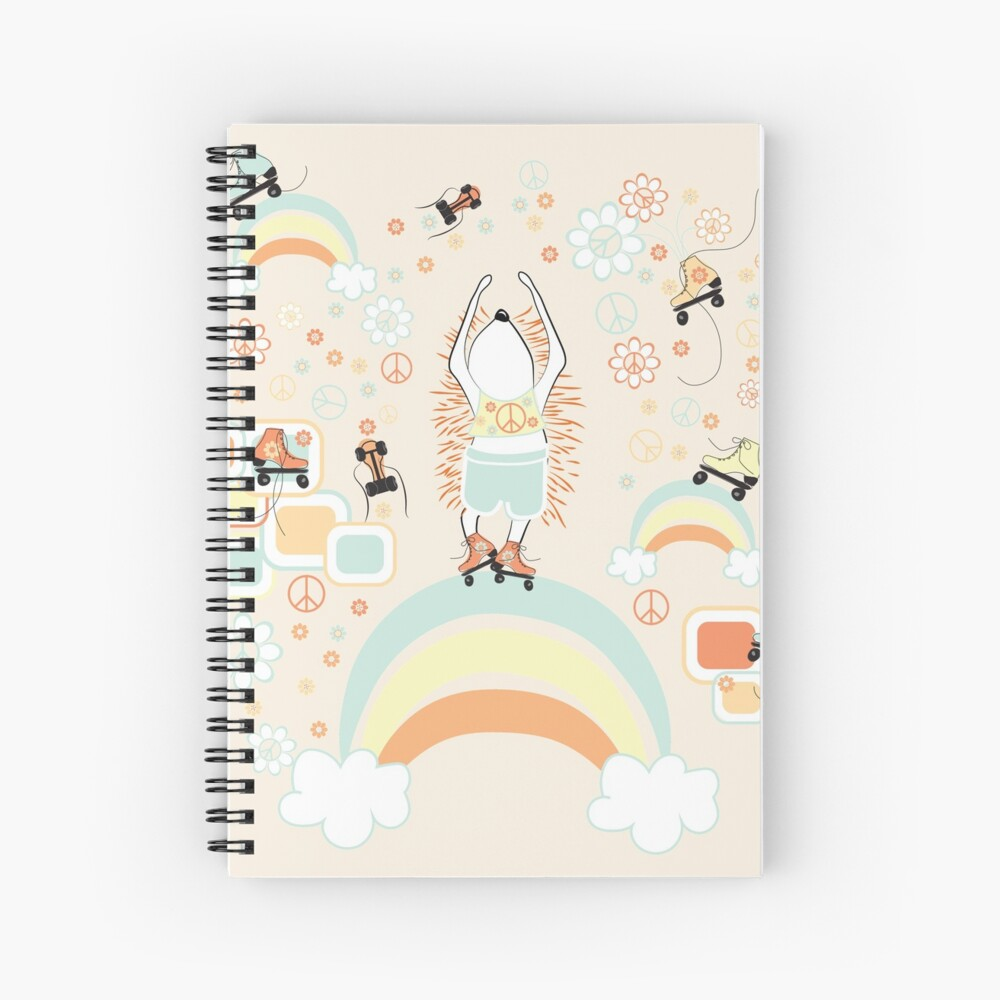 Floating on Rainbows Spiral Notebook