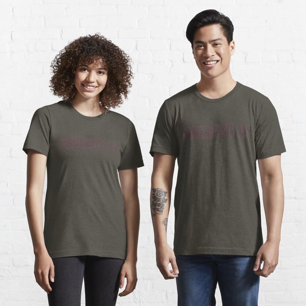FEMINIST AF - Pinkish and Transparent Essential T-Shirt