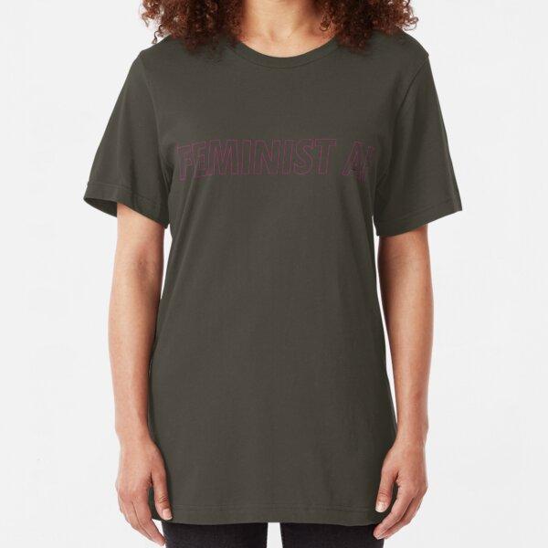 FEMINIST AF - Pinkish and Transparent Slim Fit T-Shirt