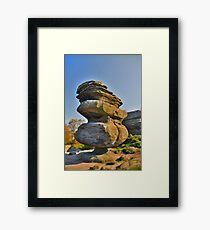 Yorkshire: Brimham Rocks, The Idol Framed Print