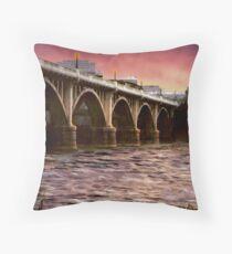 Fishing Under The Bridge Throw Pillow