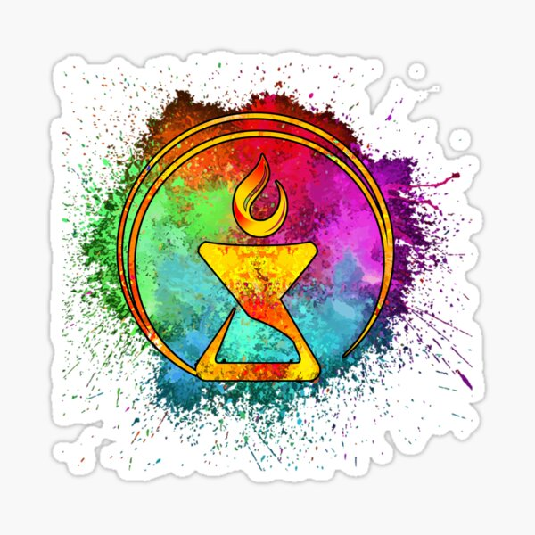 Cosmic Watercolor Chalice - Blue Sticker
